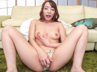 Shy Airi Mashiro craves for cock in her wet little pussy